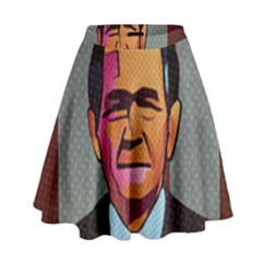 George W Bush Pop Art President Usa High Waist Skirt