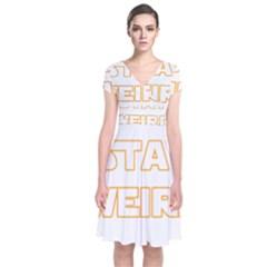 Stay Weird Short Sleeve Front Wrap Dress