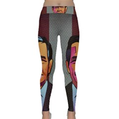 George W Bush Pop Art President Usa Classic Yoga Leggings