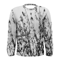 Snow Winter Cold Landscape Fence Men s Long Sleeve Tee