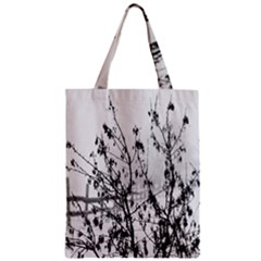 Snow Winter Cold Landscape Fence Zipper Classic Tote Bag