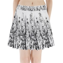Snow Winter Cold Landscape Fence Pleated Mini Skirt