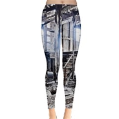 House Old Shed Decay Manufacture Leggings