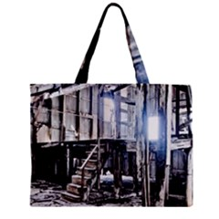 House Old Shed Decay Manufacture Zipper Mini Tote Bag