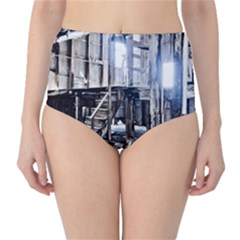 House Old Shed Decay Manufacture High Waist Bikini Bottoms