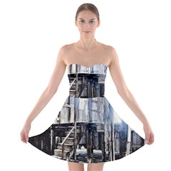 House Old Shed Decay Manufacture Strapless Bra Top Dress