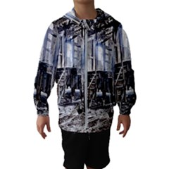 House Old Shed Decay Manufacture Hooded Wind Breaker (kids)