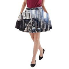 House Old Shed Decay Manufacture A Line Pocket Skirt