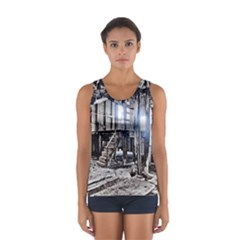 House Old Shed Decay Manufacture Sport Tank Top