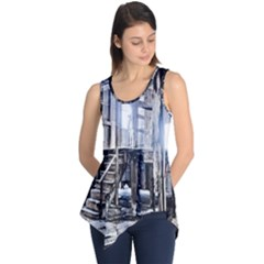 House Old Shed Decay Manufacture Sleeveless Tunic