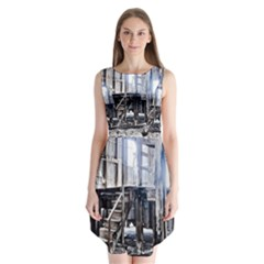 House Old Shed Decay Manufacture Sleeveless Chiffon Dress