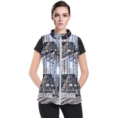 House Old Shed Decay Manufacture Women s Puffer Vest