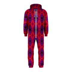 Retro Abstract Boho Unique Hooded Jumpsuit (kids)