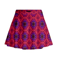Retro Abstract Boho Unique Mini Flare Skirt