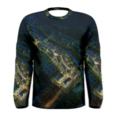 Commercial Street Night View Men s Long Sleeve Tee