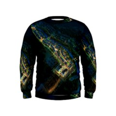 Commercial Street Night View Kids  Sweatshirt