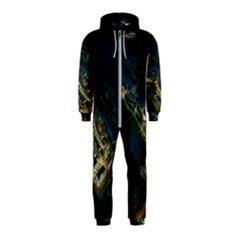 Commercial Street Night View Hooded Jumpsuit (kids)