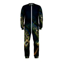 Commercial Street Night View Onepiece Jumpsuit (kids)