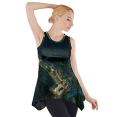 Commercial Street Night View Side Drop Tank Tunic