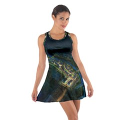 Commercial Street Night View Cotton Racerback Dress