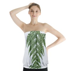 Boating Nature Green Autumn Strapless Top