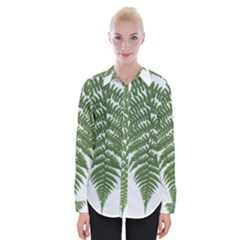 Boating Nature Green Autumn Womens Long Sleeve Shirt