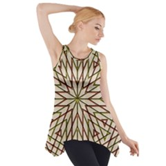 Kaleidoscope Online Triangle Side Drop Tank Tunic