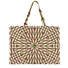Kaleidoscope Online Triangle Zipper Large Tote Bag