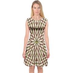 Kaleidoscope Online Triangle Capsleeve Midi Dress