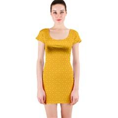 Texture Background Pattern Short Sleeve Bodycon Dress