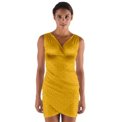 Texture Background Pattern Wrap Front Bodycon Dress