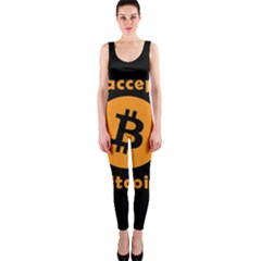 I Accept Bitcoin Onepiece Catsuit
