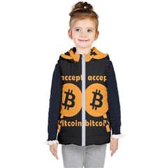 I Accept Bitcoin Kid s Puffer Vest