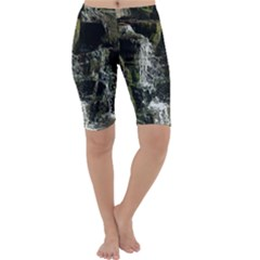 Water Waterfall Nature Splash Flow Cropped Leggings