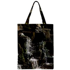 Water Waterfall Nature Splash Flow Zipper Classic Tote Bag