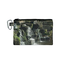 Water Waterfall Nature Splash Flow Canvas Cosmetic Bag (small)