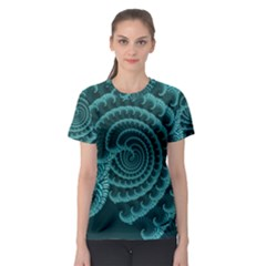 Fractals Form Pattern Abstract Women s Sport Mesh Tee