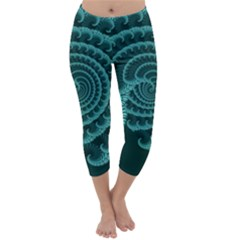 Fractals Form Pattern Abstract Capri Winter Leggings
