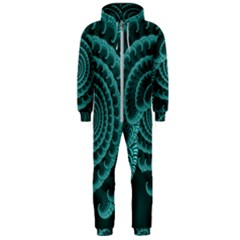 Fractals Form Pattern Abstract Hooded Jumpsuit (men)