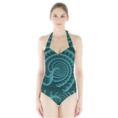Fractals Form Pattern Abstract Halter Swimsuit