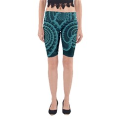 Fractals Form Pattern Abstract Yoga Cropped Leggings