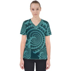 Fractals Form Pattern Abstract Scrub Top