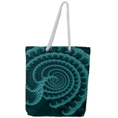 Fractals Form Pattern Abstract Full Print Rope Handle Tote (large)