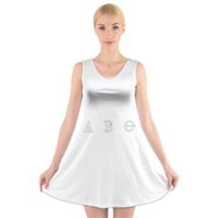 Taboo V Neck Sleeveless Skater Dress