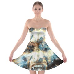 Universe Vampire Star Outer Space Strapless Bra Top Dress