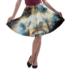 Universe Vampire Star Outer Space A Line Skater Skirt