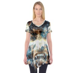 Universe Vampire Star Outer Space Short Sleeve Tunic