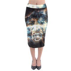 Universe Vampire Star Outer Space Midi Pencil Skirt