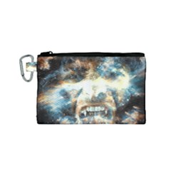 Universe Vampire Star Outer Space Canvas Cosmetic Bag (small)