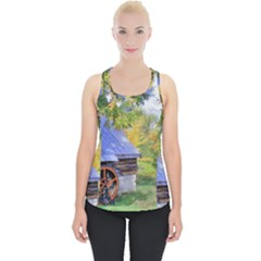 Landscape Blue Shed Scenery Wood Piece Up Tank Top
